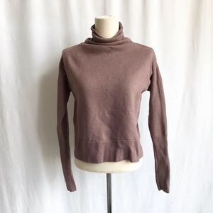 Wilfred Aritzia rose taupe mock neck knit XXS